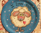 RESERVED FOR WENDY, Sheep, heart, Magnet, Valentines Day,  Spring Decor, Love, Ewe, Teacher Gift, Hostess Gift, Friend, Sheep Collector, Fun