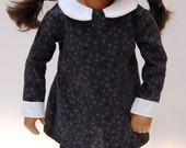 Sasha Doll Outfit - Wednesday Addams style. 3 Piece Dress, panties and tights.
