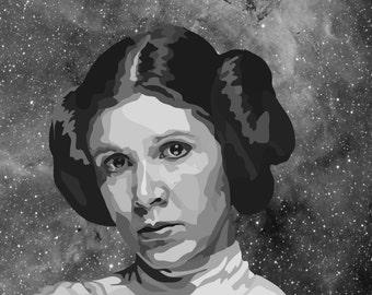 Princess Leia Digital Art Print....