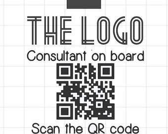 Direct Sales QR Barcode car decal, Any Website, LulaRoe, Younique, Lipsense Window Vinyl