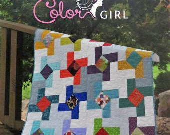Dutch Windmill Quilt Pattern - Color Girl Quilts - Sharon McConnell - CG1403