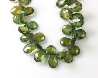 Tsavorite Teardrop Briolette, 10.7mm to 14mm,Your Choice of 1, 2, 4, 6, 8, or 10 Loose Beads Natural Green Kelly Gemstone,May Birthstones KJ