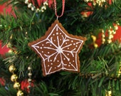 Star Cookie Cinnamon Scented Ornament | Handcrafted | Not Real Cookie DO NOT EAT