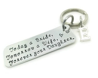 Parents Wedding Gift, Personalised Wedding Gift, Parents Of The Bride, Today A Bride, Keyring Keychain, Mother Of Bride, Father Of Bride