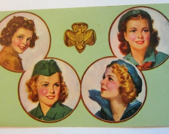 Vintage Girl Scout Membership Cards-Blank circa 1950's
