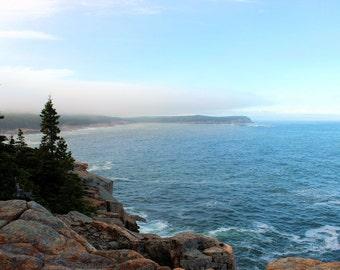 Acadia Photo Print, Acadia National Park, Rocky Coast, Seascape, Maine Photo Print, Nature