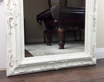 "Decorative Mirror, 31"" by 35"", Baroque Style, Cottage Chic, Vanity Mirror, French Country, Ornate Mirror, Fireplace Mirror"
