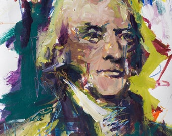 Abstract Thomas Jefferson Portrait