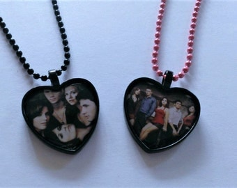 CLEARANCE YOU PICK Character Heart Shaped Cameo Necklace