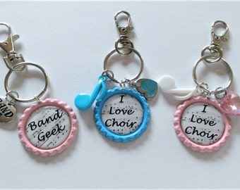 YOU PICK Band or Choir Backpack Clip/Purse Charm
