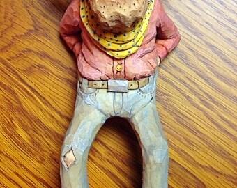 Carved Cowboy