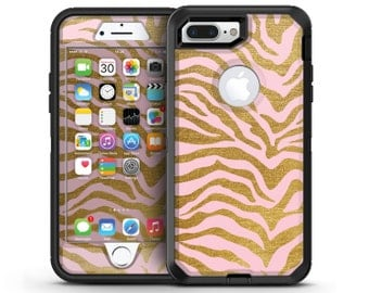 Pink Gold Flaked Animal v4 - OtterBox Case Skin-Kit for the iPhone, Galaxy & More