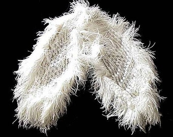 1920's Flapper Ostrich Feather and Sequined Hand Made Stole Wrap One of a Kind