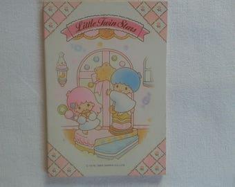 Vintage sanrio Little Twin Stars 1989 notebook