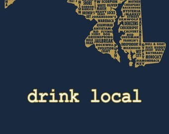 Drink Local- Maryland Beer T-shirt