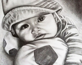 Detailed Realistic Pencil Drawing