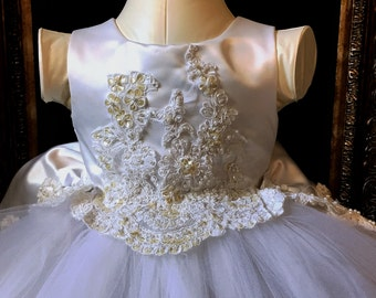 Heirloom Flower Girl Dress Made from Mother's Gown