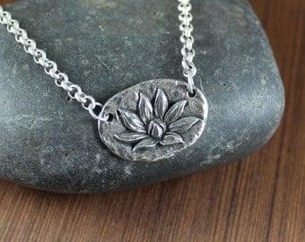 Rustic Romantic ~ Lotus ~ Pendant necklace