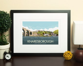 Knaresborough, North Yorkshire, England, UK - signed travel poster print