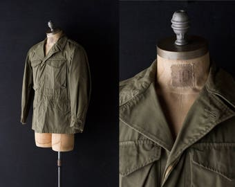 M-43 FIELD JACKET - Authentic military cold weather field coat - size Small