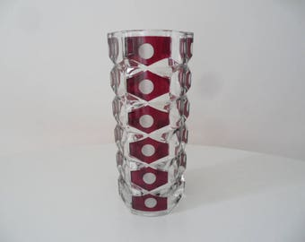 Large Luminarc french glass vase,collectible french glass vase