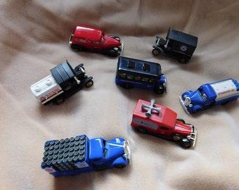 7 Vintage Made in England Die Cast Trucks-Chevron