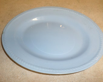 Homer Laughlin Kraft Blue Platter