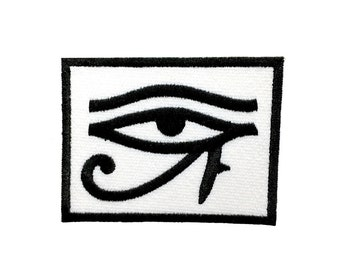 """3.5"""" Ancient egyptian gold All seeing EYE OF RA horus Embroidered Iron on patch"""