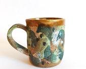 Hand Built Stoneware Palette Mug no. 1