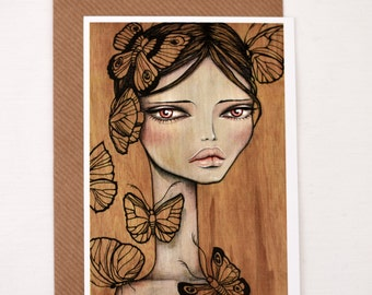 Postcard; reproductions of my artwork Freya, with envelope