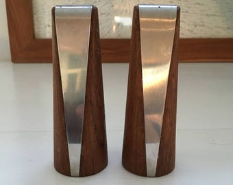 Vintage Mid Century Modern/ Hollywood Regency Swedish Salt and Pepper Shakers