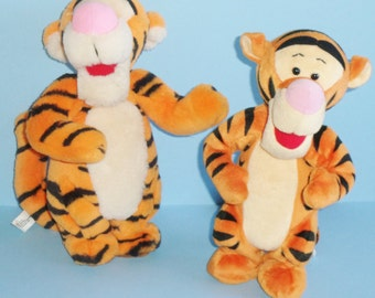 Disney Boing Spring Bounce Plush Pair of Tiggers By Mattel 1994 and 1997 Tiggers No Batteries Required