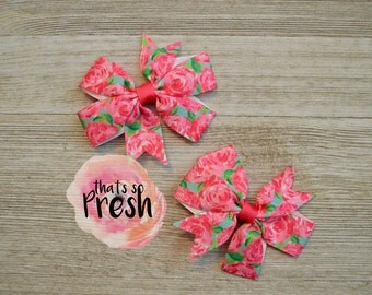 Lilly Pulitzer Hair Bow, Lilly Pulitzer Crown Jewels, Lilly P Bow, Lily Pulitzer, Lilly Pulitzer Inspired Hair Bow, Pigtail bows