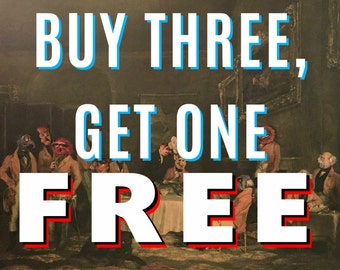 Buy Three, Get One FREE - Your Choice - Pop Culture Parodies by Dave Pollot - Repurposed Thrift Art -  Prints Posters Canvas Pop Culture Art