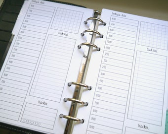 Filofax Personal Day on One Page DO1P Printable