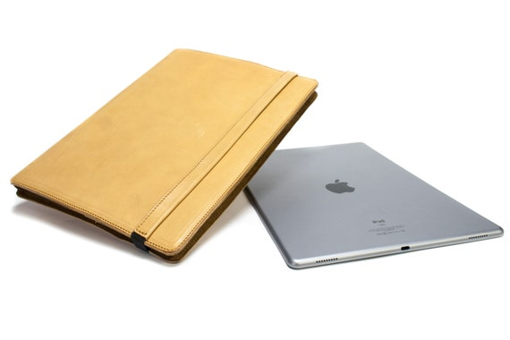 "iPad PRO 12.9"" 2015-2016  code A1652 A1584 PORTFOLIO leather case made by genuine Italian leather as protection choose Body and Accent color"