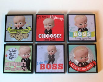 Boss Baby Party Favors - Boss Baby Note Pads Set of 6 - Boss Baby Birthday Party Favors