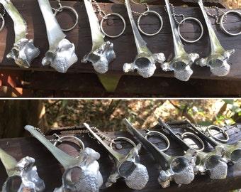 Silver Deer Vertebrae Keychain