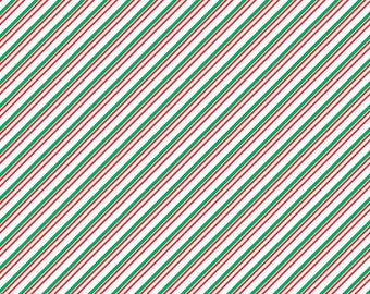 Red, green and white stripe craft  vinyl sheet - HTV or Adhesive Vinyl -  diagonal stripe pattern Christmas candy cane HTV3020
