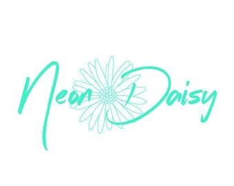 Hand Drawn Daisy Premade Logo Design