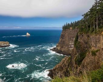 Oregon Coast Photograph, Ecola State Park, Cape Meares Print, 8x10 Wall Decor, Pacific Northwest, Cliffs Photo, Fine Art Print