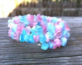 Pale Pink Baby Blue Tumblr Pastel Grunge Goth Indie Wrapped Bracelet by The Wild Willows™