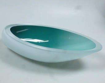 Czech art glass bowl