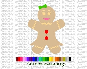 Gingerbread Woman Decal