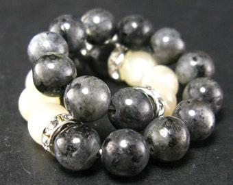Labradorite and Moonstone Bracelet - 8mm