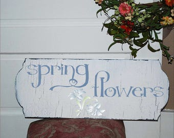 spring flowers **REUSABLE STENCIL**- with lily- 7 sizes- Create your own Sweet Spring Signs and Cottage Pillows!
