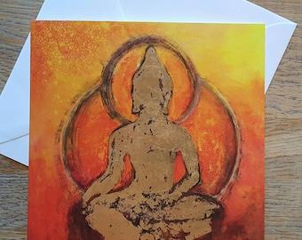 Gold Buddha Art Card ...blank inside
