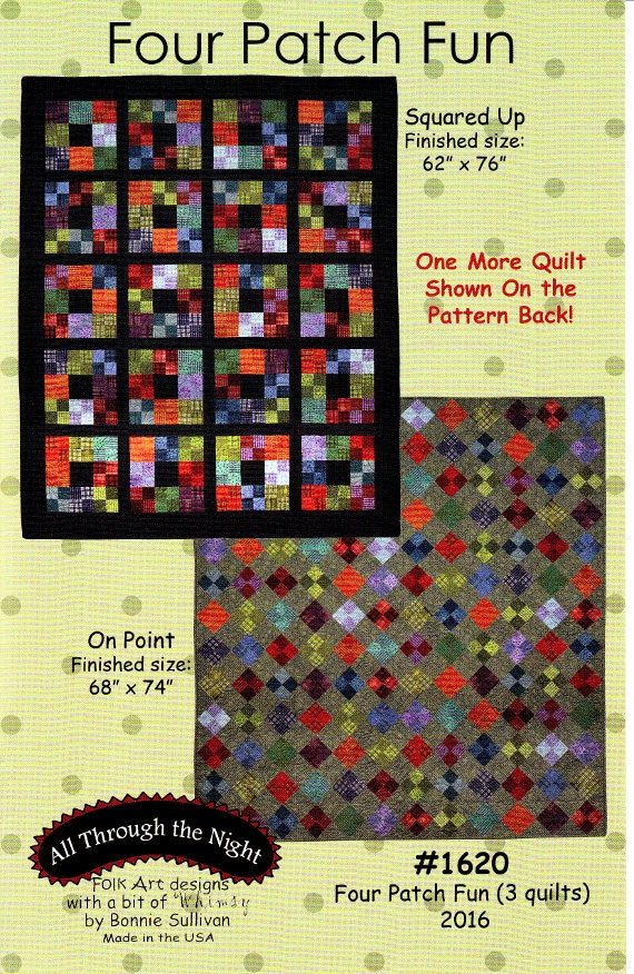 FOUR PATCH FUN Three Patterns-In-One A Flannel / Woolies : all through the night quilt patterns - Adamdwight.com