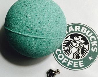 Surprise Charm Bath Bomb Starbucks Green CHARM INSIDE peppermint bath fizzy Frappuchino silver charm