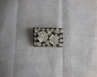 Vintage French perspex brooch